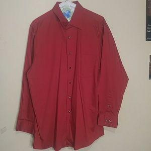 Long Sleeve Red Dress Shirt
